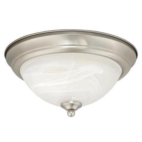 payton led 13 quot satin nickel ceiling light at menards 174