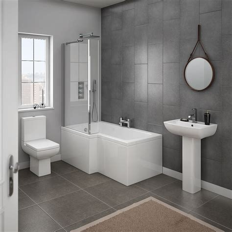 Milan 4 Piece Modern Bathroom Suite  From Victorian