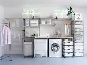 Ikea Möbel Für Hauswirtschaftsraum : waschk che einrichten m bel waschmaschine trockner wandregale kisten haus pinterest ~ Markanthonyermac.com Haus und Dekorationen