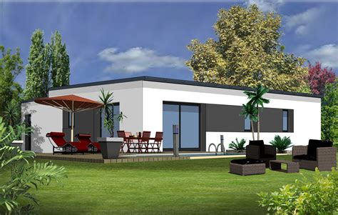 incroyable plan maison 90m2 plain pied 9 maison moderne 3 chambres evtod