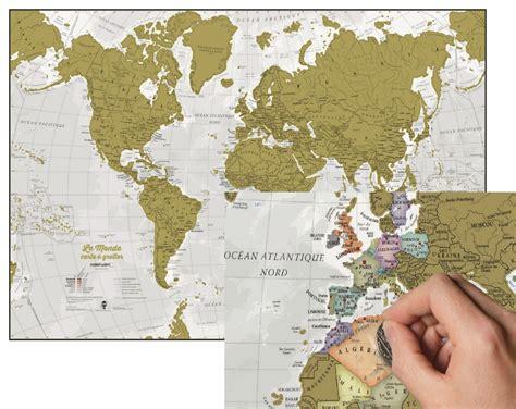 maps international carte du monde 224 gratter en fran 231 ais