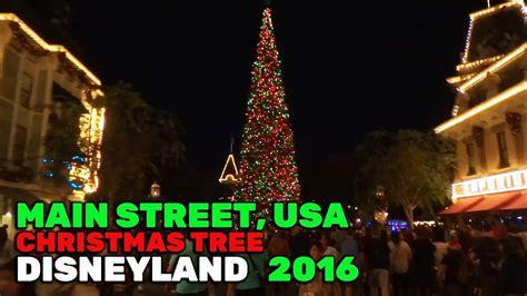 Main Street, Usa Christmas Tree Lights During 2016 Holiday