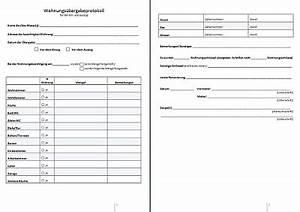 Hauskauf Checkliste Kostenlos : wohnungs bergabeprotokoll ~ Markanthonyermac.com Haus und Dekorationen