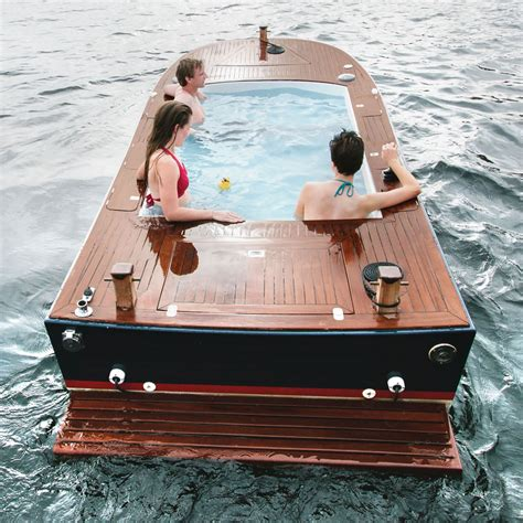 Hot Tub Boat by 42 000 Hot Tub Boat Floating Jacuzzi With Stereo System