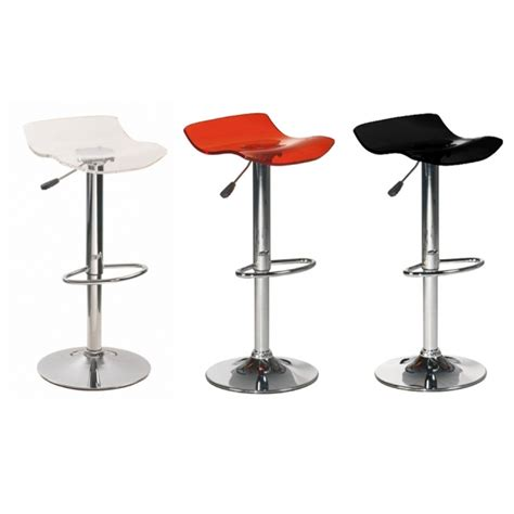 tabouret de bar noir en acrylique design tooshopping