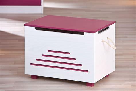 coffre 224 jouets contemporain blanc fuchsia antea meuble de rangement chambre enfant chambre
