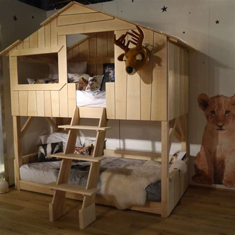 lit cabane simple ou superpos 233 en bois pour chambre d enfants mathy by bols chez deco