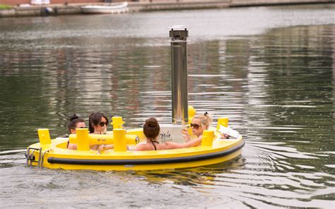 Hot Tub Boat by Float Down A London Canal In A Hot Tub Boat Travel Leisure