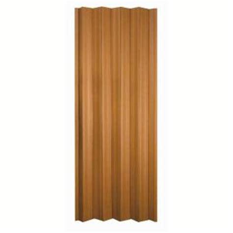 accordion doors home depot spectrum 36 in x 80 in via vinyl fruitwood accordion