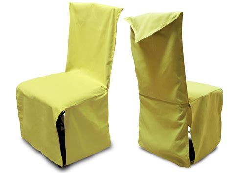 housse de chaise finition pointe coton vert anis