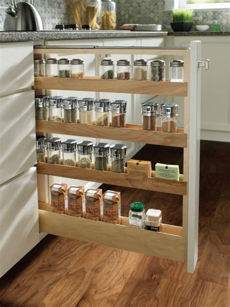 Menards Unfinished Pantry Cabinet by Medallion At Menards Cabinets Base Pull Out Spice Rack