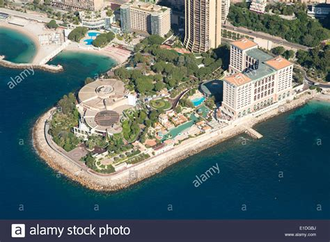 monte carlo bay hotel and resort aerial view larvotto stock photo royalty free image
