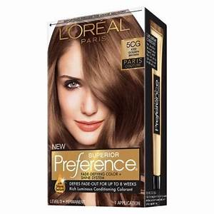 L'Oreal Preference Hair Color Iced Golden Brown 5CG ...