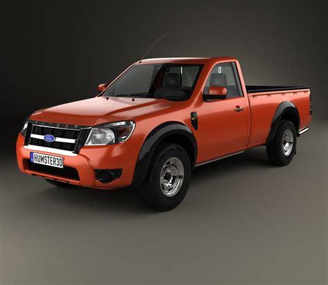 ford ranger regular cab 2009 3d model humster3d