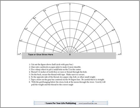 Sextant Make Your Own by Astronomy Worksheets