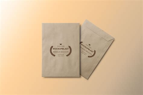 Envelope Mockup Free Psd