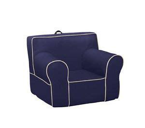 pottery barn oversized blue denim anywhere chair
