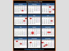 Goa Bank Holidays – 2018 – India Bank Holidays