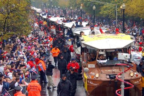Duck Boat Red Sox Parade by Duck Boats Parade In Boston Streets