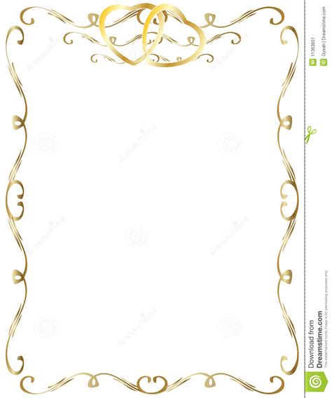 invitation de cadre d anniversaire de mariage image stock image 11363651
