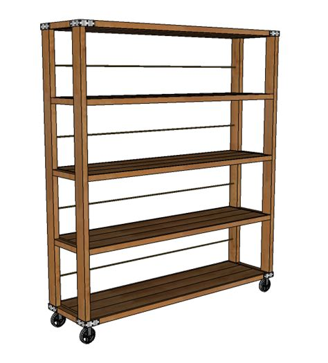 Ana White  Rolling Industrial Shelves  Diy Projects