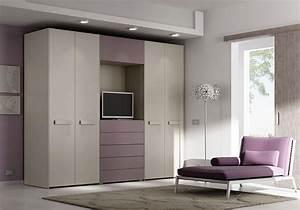 Kleiderschrank Mit Platz Für Fernseher : kleiderschrank mit 4 t ren schubladen und platz f r tv idfdesign ~ Markanthonyermac.com Haus und Dekorationen