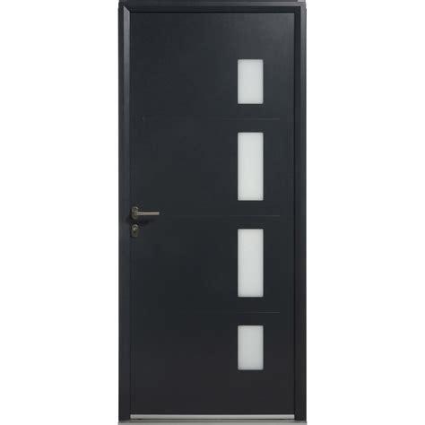 porte d entr 233 e aluminium artens poussant droit h 215 x l 90 cm leroy merlin