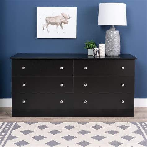 6 drawer dresser black prepac black edenvale 6 drawer dresser home furniture
