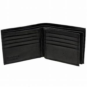 Mens Bifold Wallet Double Center Flap Genuine Leather ...