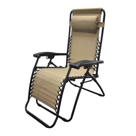 caravan sports caravan beige infinity zero gravity patio chair 2 pack 80009000152 the home depot