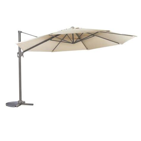 carrefour parasol excentr 233 216 4 m m 233 tal gris fonc 233 pas cher achat vente parasols