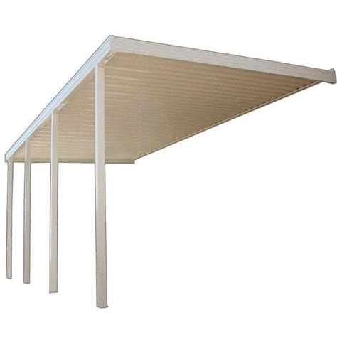 Patio Materials Home Depot by Four Seasons Building Products 18 Ft X 10 Ft White