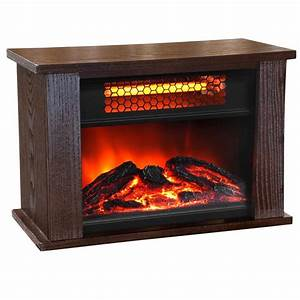 LIFE PRO 750-Watt 2 Element Mini Infrared Fireplace Heater ...