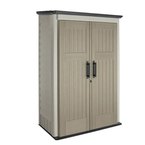rubbermaid garden sheds home depot rubbermaid 4 ft x 2 ft 5 in large vertical storage shed