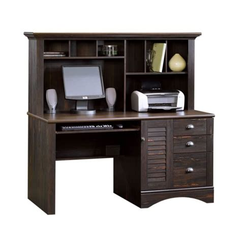 sauder harbor view computer desk with hutch 401634 free shipping