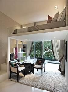 Kleines Wohnzimmer Gestalten : die kleine wohnung einrichten mit hochhbett freshouse ~ Markanthonyermac.com Haus und Dekorationen