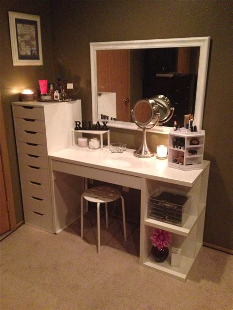 Ikea Bedroom Vanity by Makeup Organization And Storage Desk And Dresser Unit