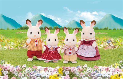 Sylvanian Families Chocolate Rabbit Family Ebay