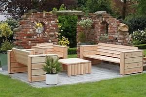 Outdoor Sofa Holz : loungem bel gartenm bel set aus wetterfestem holz douglasie loungem bel pinterest ~ Markanthonyermac.com Haus und Dekorationen