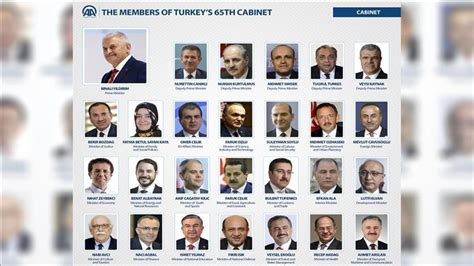 turkey brief profiles of new cabinet members