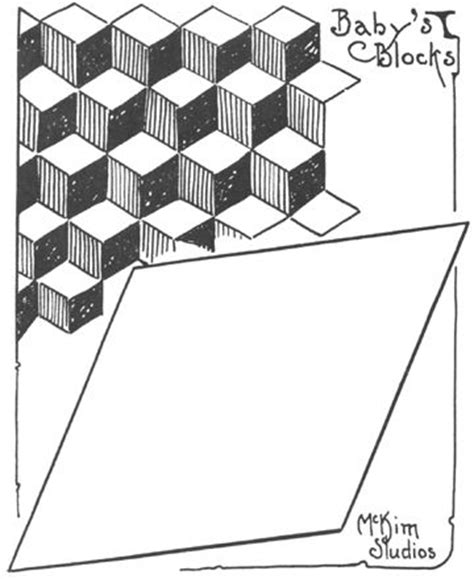 Tumbling Block Quilt Pattern Template by Baby Block Quilt Template Sewing Quilting Pinterest