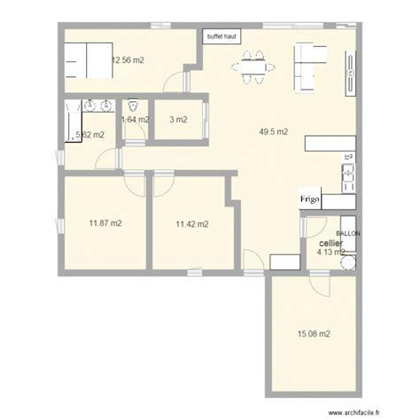 maison 12m facade plan 9 pi 232 ces 115 m2 dessin 233 par nour44