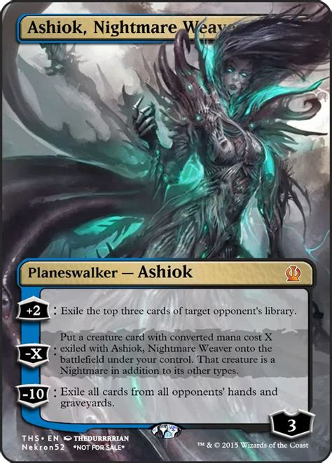 ashiok nightmare weaver mtg card proxies