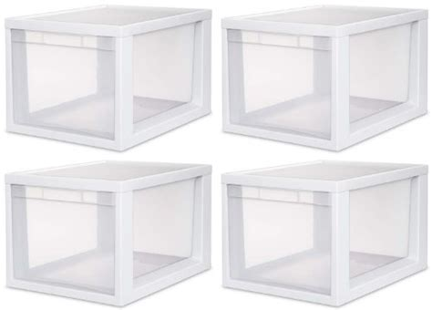4 Sterilite 23658006 Medium Tall Modular Stacking Storage Drawer Clear Container Maine Tall White With 6 Storage Drawers Chests Of Melbourne Malm 5 Drawer Dresser Top Side Tool Box Copenhagen 2 3 4 Chest In Mirrored B M Vanity Set Mirror Spray Paint Old Pulls