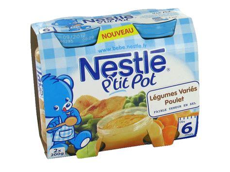 petits pots nestle legumes poulet 6 mois 2x200g tous les produits assiettes petits pots de