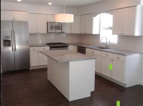 grey countertops white cabinets kitchen 2014 projects