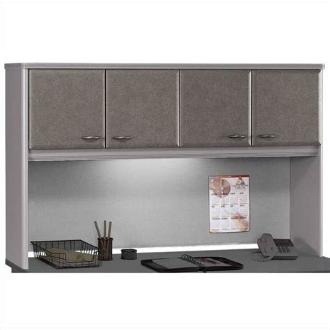 bush business a series cubicle desk in white spectrum and pewter bsa007 145