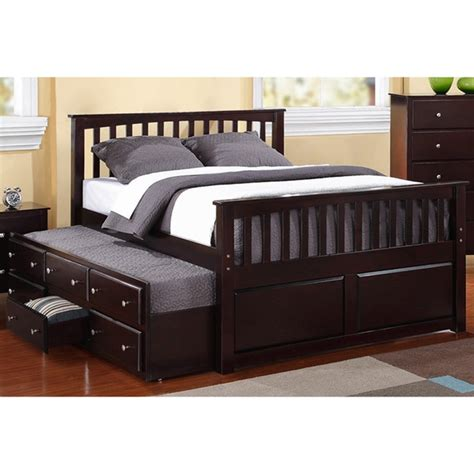 size 3 drawer trundle captain bed 15912943 overstock shopping great deals
