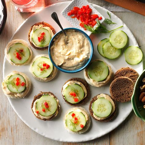 cucumber canapes recipe taste of home