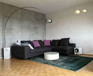 Maler Ideen Wohnzimmer : wohnideen wandgestaltung maler wand in betonoptik mit betonputz in frankfurt wiesbaden mainz ~ Markanthonyermac.com Haus und Dekorationen